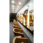 Jonsson Protein hair treatment salon with lights on