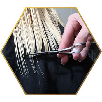 Jonsson Protein blond hair trimming split ends