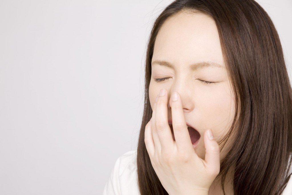46283141 - woman yawn