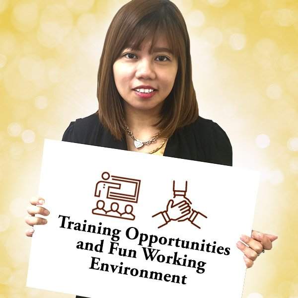 Training opportunities and fun working environment